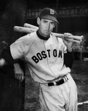 Ted Williams: American baseball player Ted Williams of the Boston Red ...