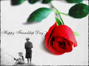 friendship day greetings red rose With Two Children Black And White HD ...