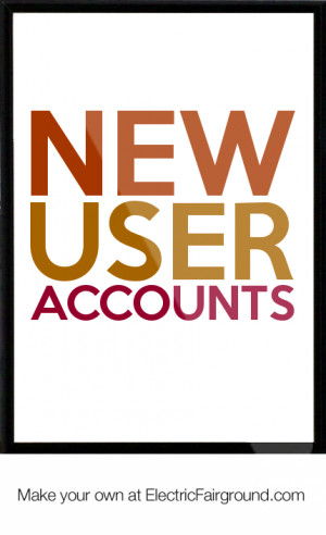 New user accounts Framed Quote
