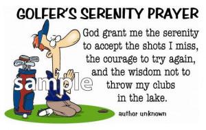Golfer's Serenity Prayer