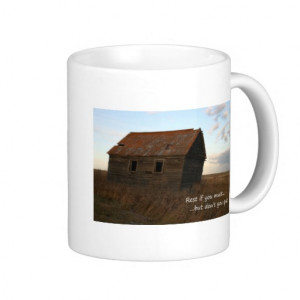 Old building inspirational quote praire coffee cup coffee mugs