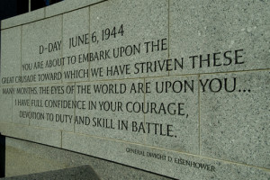 1038547. A quote from General Eisenhower engraved on the World War II ...