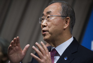 NEW EBOLA HEAD. UN Secretary General Ban Ki-moon responds to a ...