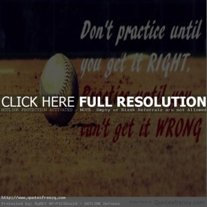 softball baseball Sports Quotes
