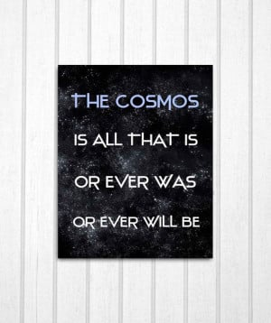 Cosmos Carl Sagan Quote 8x10 Print