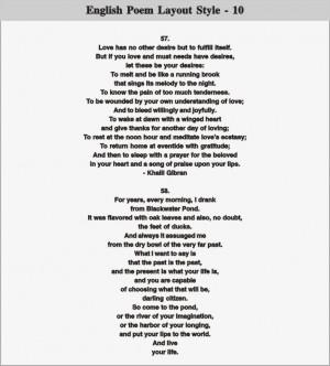 English Poem Layout - 10