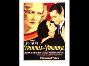 Trouble in Paradise Miriam Hopkins Kay Francis Herbert Marshall on ...