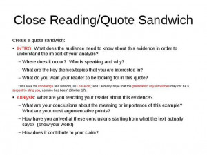 ... Quote Sandwich ... Quotes Integration, Quotes Sandwiches, Analysis