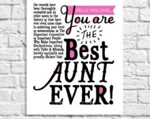 ... Nephews. Aunt Birthday. Christmas Gift. Aunt Sign. Aunt Quote Art