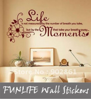 ... wall sticker Life Is... Vinyl Wall Quotes Decor Wall Stickers Decals