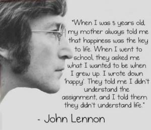 John Lennon 'happiness' quote