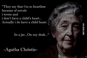 Creepy but epic Agatha Christie quote