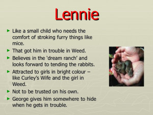 george and lennies relationship in chapter 5