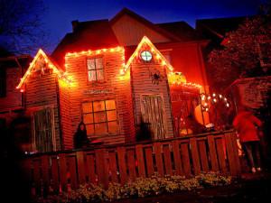 Halloween haunted house lights