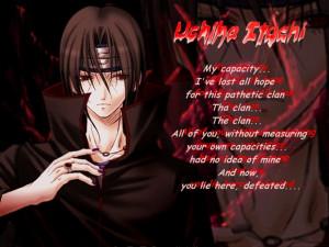 Quotes (Kata-Kata Bijak) Itachi Uchiha