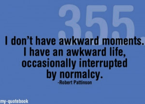 Awkward moments don't exist