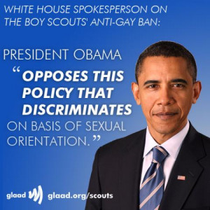 Obama opposes Boy Scouts' anti-gay policies and another Eagle Scout ...