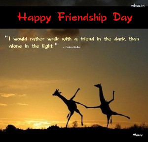 Happy Friendship Day Greetings Sun shine Natural Quote With giraffe HD ...