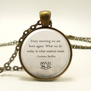 ... , Motivational Wisdom Pendant, Inspirational Yoga Jewelry (1573B1IN