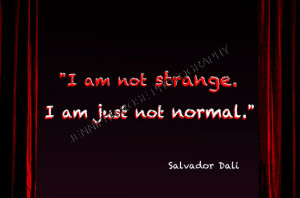 Salvador Dali Goth Quote Art 4x6 Sized Print Framed Inspirational ...