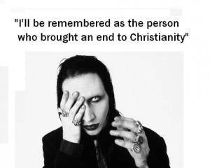 Marilyn Manson (Priest of the church of satan)