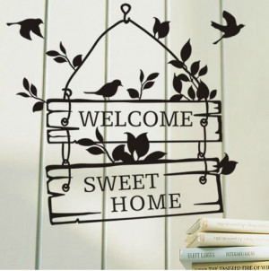 Welcome-Sweet-Home-Sign-Bedroom-Living-Room-Door-Window-Say-Quote ...