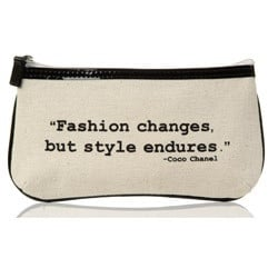 sketch art flat zip quote bag