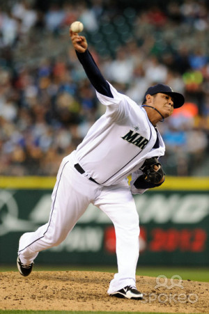 Pitcher Felix Hernandez During The Inning Safeco Field