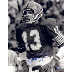 Dan Marino Autographed University Of Pittsburgh Vertical B/W 11x14 ...