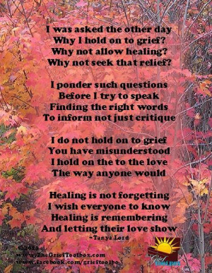 Healing is remembering and letting their love show - A Poem