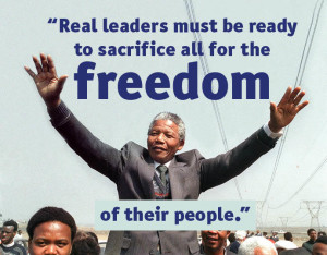 ... overcome your fear and be ready for the next trial, Mandela believed