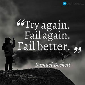 Samuel Beckett motivational #quote