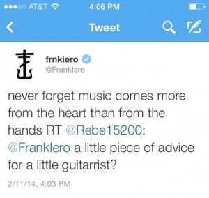 Frank Iero | quote/tweet