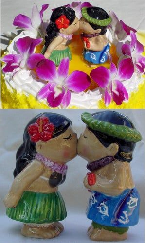 These adorable Hawaiian kissing couple are available at www ...
