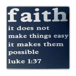 Bible Verse - Luke 1:37 - Religious Quote - Inspirational Verse 12
