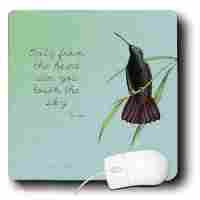 ... , Hummingbird Vintage with Rumi Quote Inspirational Art (mp_130624_1