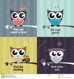 Royalty Free Stock Photo: Vector owls