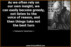... take not the best turn - Yamamoto Tsunetomo Quotes - StatusMind.com