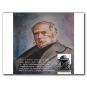 Henry Bessemer The Steel Converter & Quote Gifts Postcard