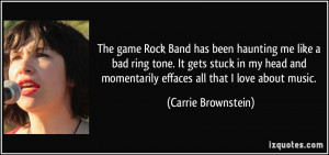 The game Rock Band has been haunting me like a bad ring tone. It gets ...