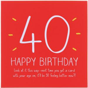 Happy Jackson 40th Happy Birthday! Card
