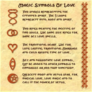 love symbols sample page The Book Of Love Spells Design for page ...