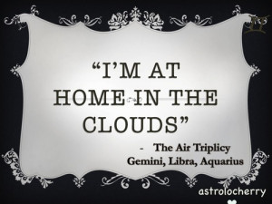 Star Sign QuotesThe Air Triplicy - Gemini, Aquarius and Libra