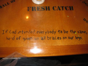 Bubba Gump Shrimp Co Photo: The tables all have quotes from Gump