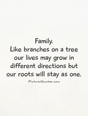 Quotes Our Family Is Like A Tree Branch Pictures