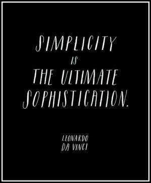 Quotable, quotes, sayings, simplicity, leonardo da vinci