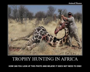 Trophy hunting is what it is, it is people killing animals to feed ...