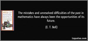 The mistakes and unresolved difficulties of the past in mathematics ...