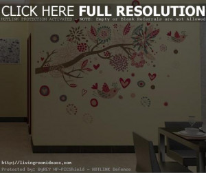 Living Room Wall Decals : Living Room Wall Stickers Quotes