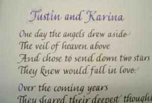 Wedding Anniversary Dedication (detail).